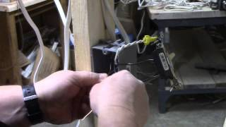 How to wire a switch to a light.