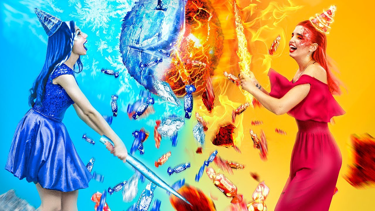 Download Hot vs Cold Challenge / Girl on Fire vs Icy Girl Birthday Party