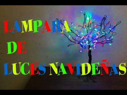 5bc4feedc1f Lampara con luces Navideñas - YouTube