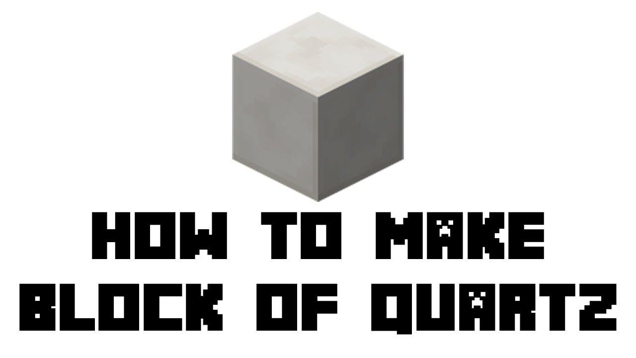 Minecraft Survival: How to Make Block of Quartz