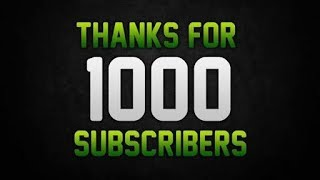 Thanks for 1000 Subscribers  Thanks giving + Promoting other channels