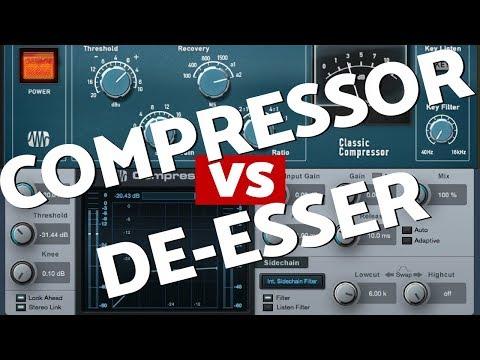 Compressor + De Esser = Magic Combo