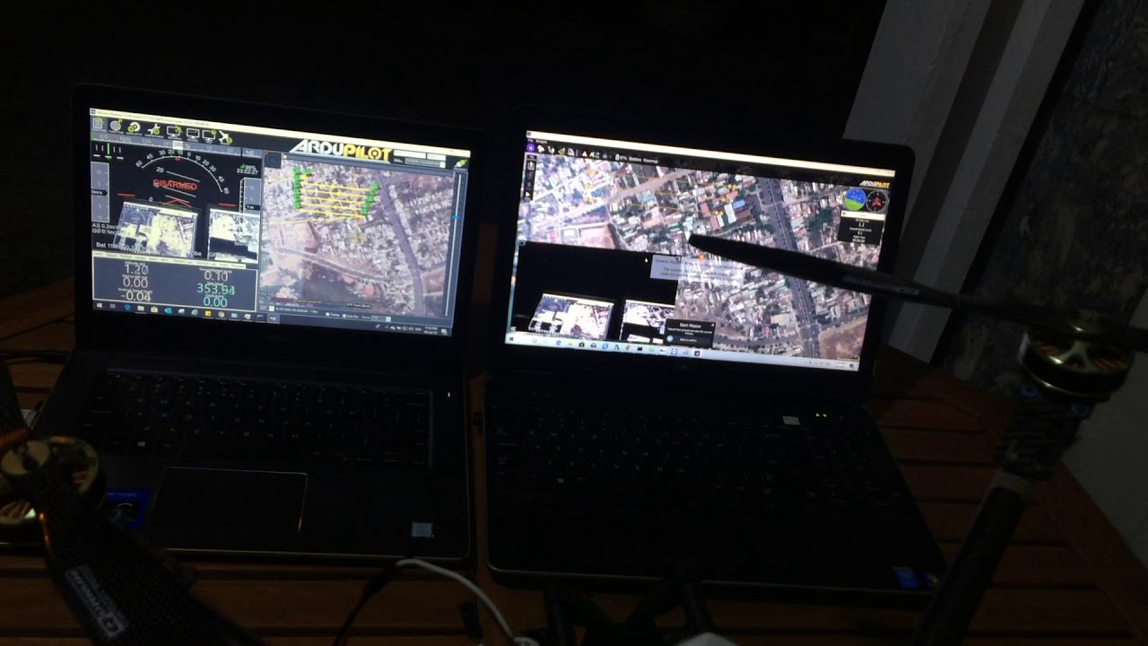 Drone send telemetry data and video streaming to multiple PCs (1  MissionPlanner - 1 QGroundControl)