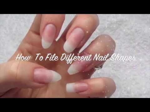 How To File Different Nail Shapes Almond Stiletto Coffin Oval Square