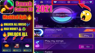 Smash Colors 3D Mod Apk 2021 Unlock All Music / Max Money / Unlock All screenshot 2