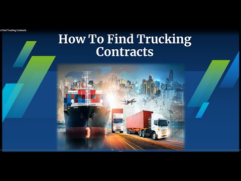 How To Find Trucking Contracts