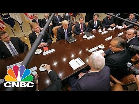 President Donald Trump Meets With CEOs, Pledges To Cut Taxes 'Massively' | CNBC