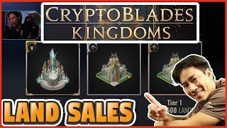 PLAY TO EARN CRYPTOBLADES KINGDOM LAND SALES - BEST NFT GAMES - INO - BLOCKCHAIN - SKILL TOKEN KING