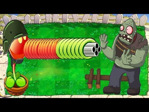 Plants vs Zombies Battlez - Snow Pea, Gatling Pea vs Gargantuar
