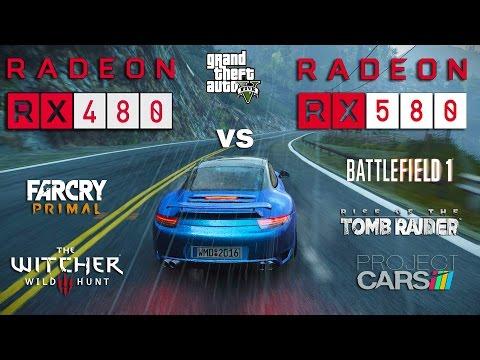 RX 580 vs RX 480 Test in 6 Games (Ryzen 1600)