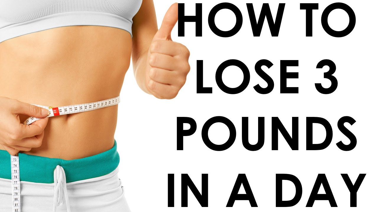 How To Lose 3 Pounds In A Day Christina Carlyle Youtube