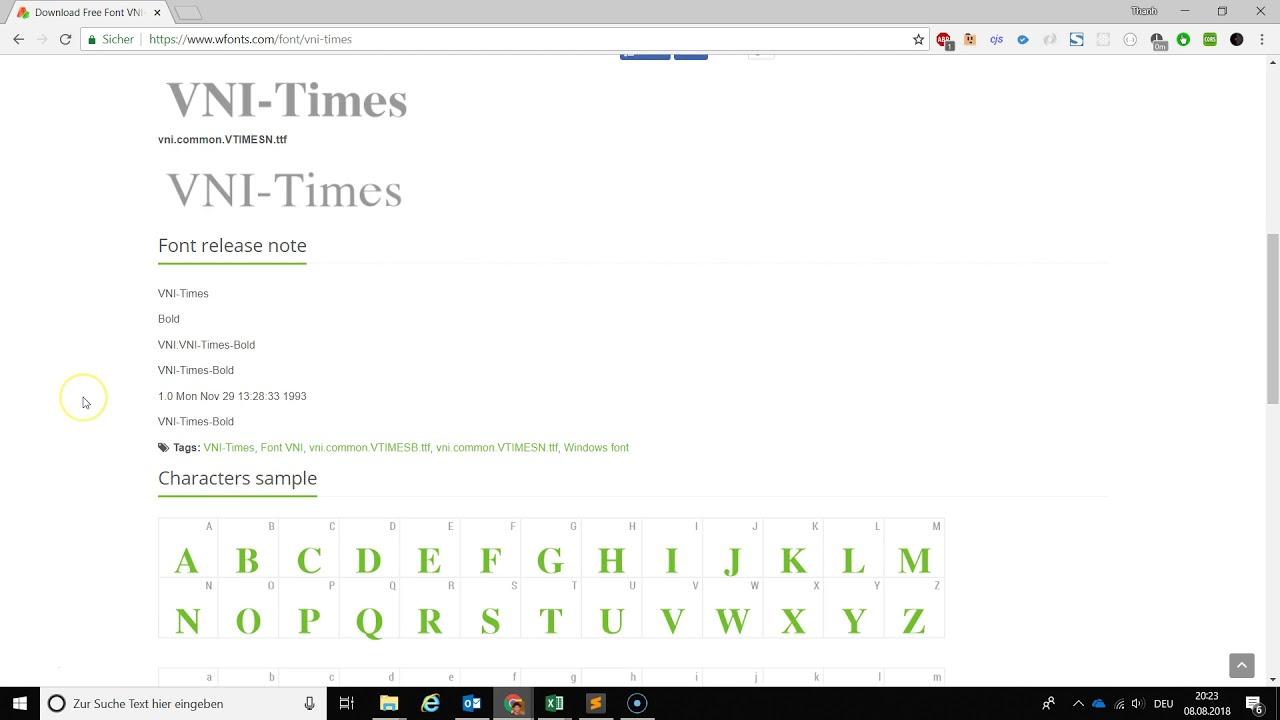 Cách sửa lỗi font chữ trong file Excel và các tài liệu khác