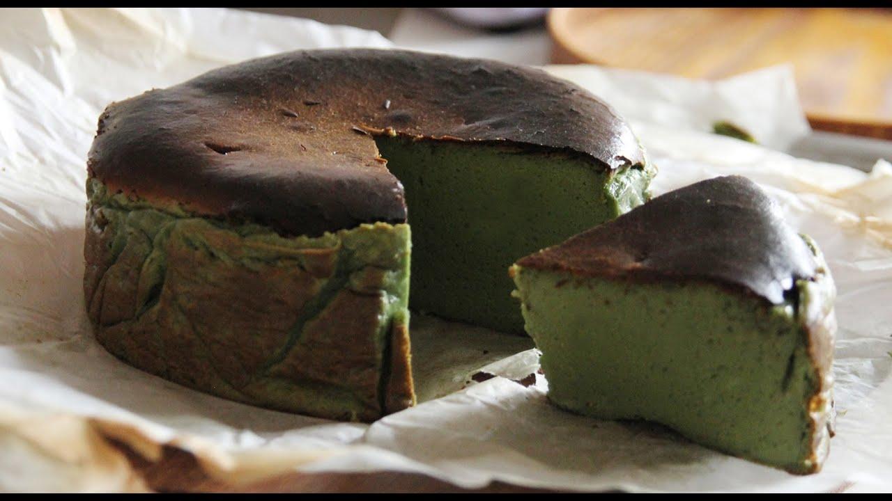 말차 바스크치즈케이크 만들기, 말차 바스크케이크, Malcha Basque burnt cheesecake : ceramicdo 세라믹도