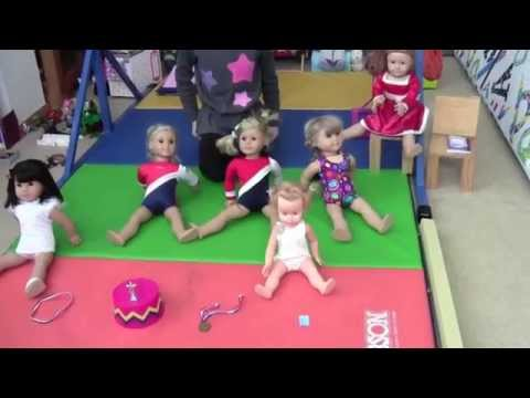 American Girl Level 3 State Gymnastics Meet With Julie, Kit, Kirsten, Ivy And Sammy
