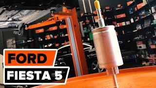 Cum se inlocuiesc filtru de combustibil pe FORD FIESTA 5 TUTORIAL | AUTODOC