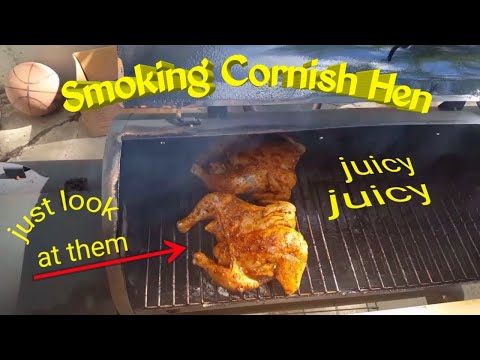 Smoked Cornish Hen...grilled And Juicy. Come And Get It