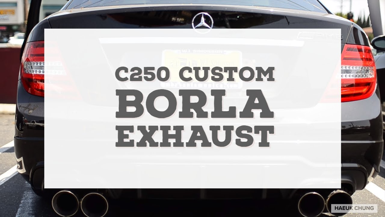 2012 mercedes benz w204 c250 borla s type muffler no fa for Mercedes benz exhaust