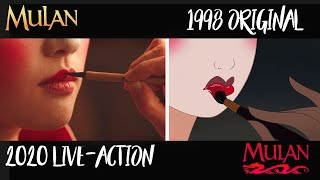 Mulan 1998 vs  Mulan 2020 Comparison