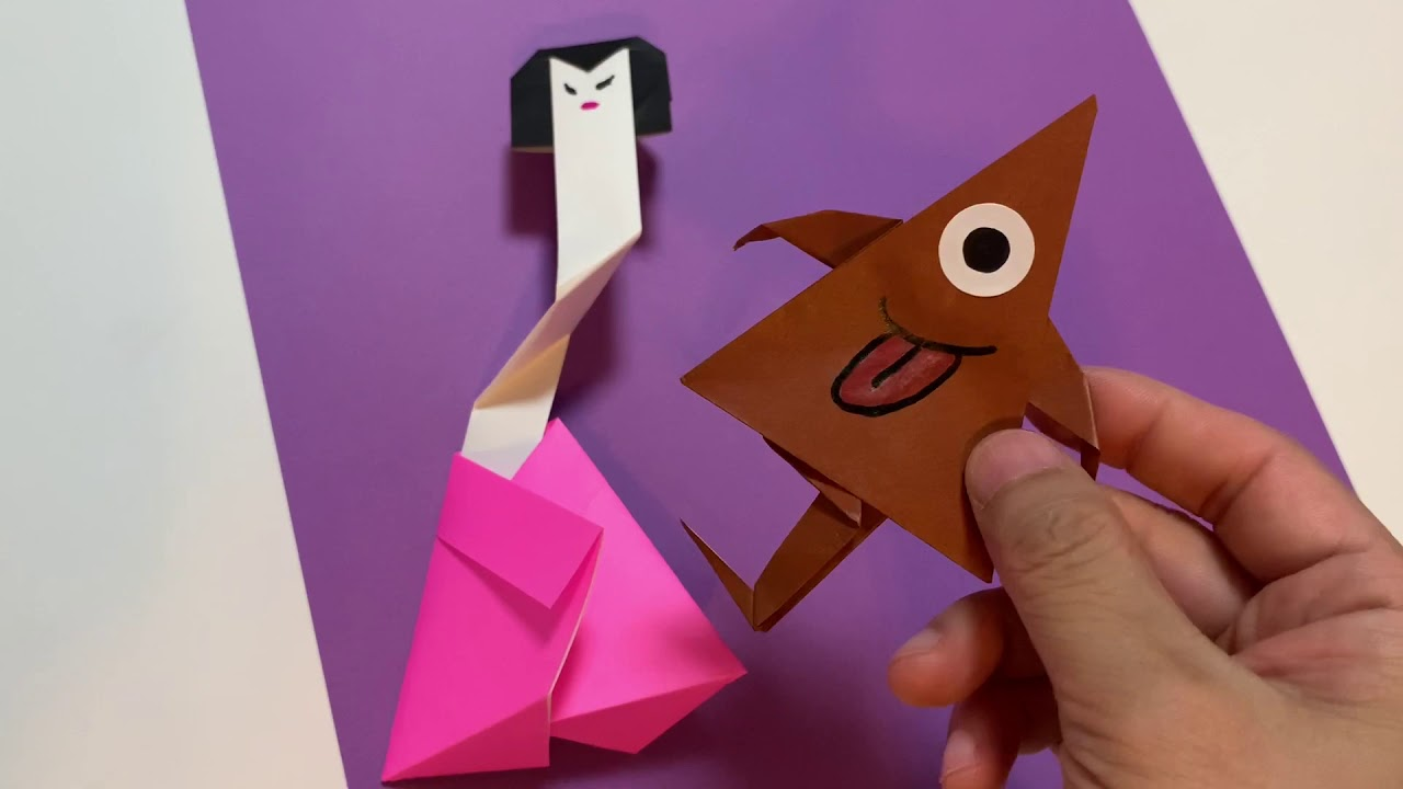 납량특집 오싹 후덜덜 귀여운 호러공포 종이접기 카라카사 우산 요괴 종이접기 호러공포접기 호러 종이접기 방구이모 종이접기 horror origami banggu