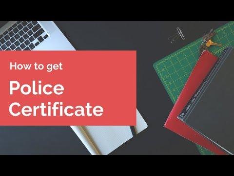 Документы для иммиграции: справка о несудимости police certificate