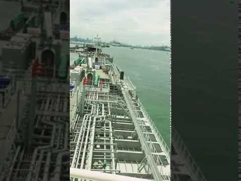 Chemical tanker un-berth, Singapore