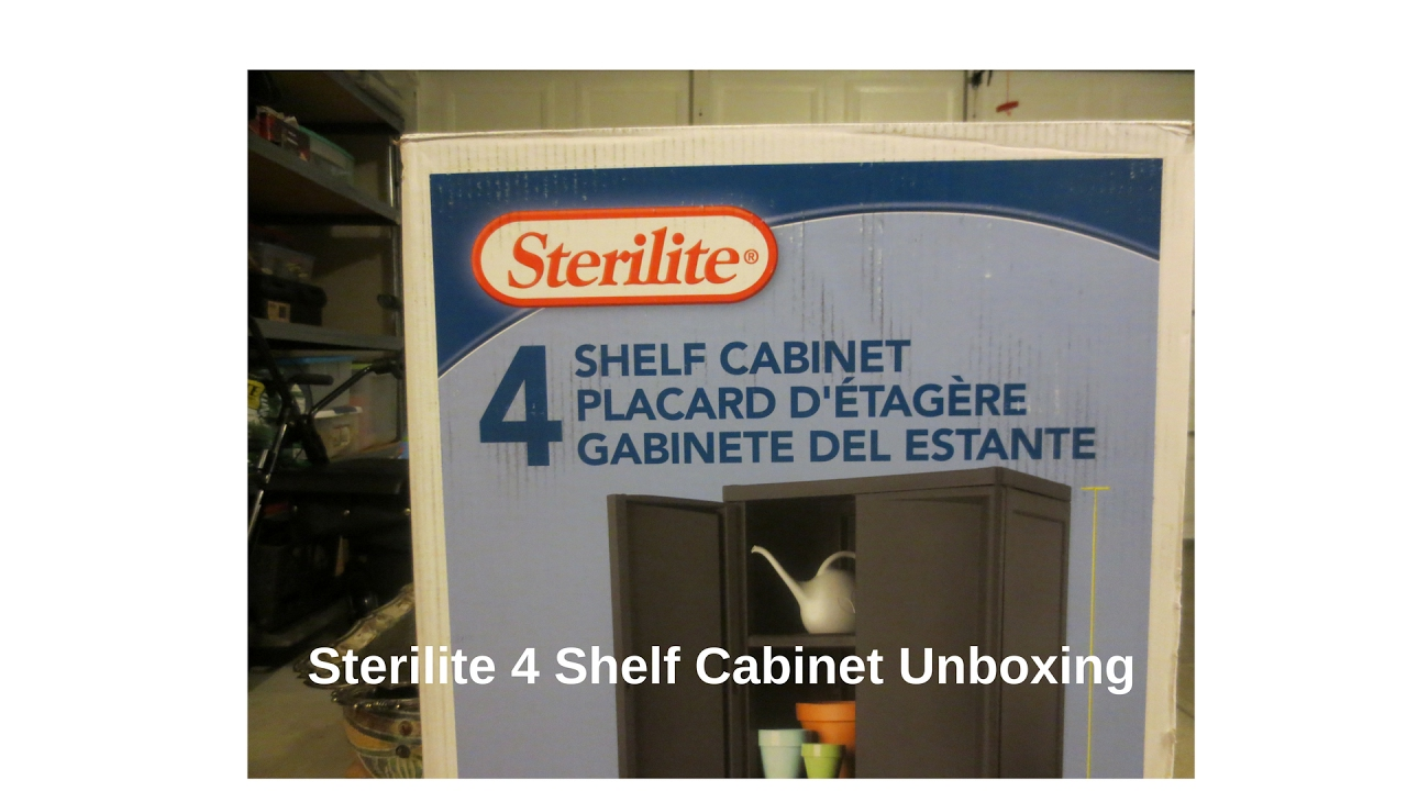 Sterilite 4 Shelf Cabinet - YouTube