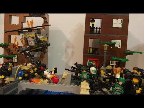 """Лего самоделка на тему зомби апокалипсис #15 """"эпидемия в городе"""""""