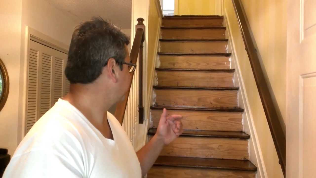 How To Refinish Hardwood Stairs Youtube