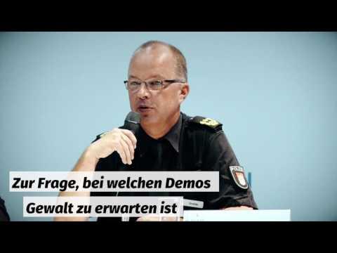 G20-Pressekonferenz der Polizei Hamburg