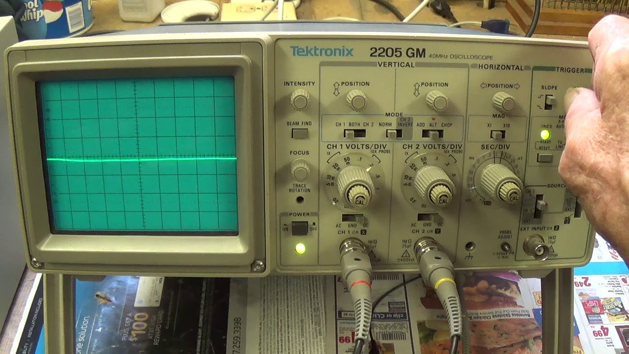 Oscilloscope Y Axis : Oscilloscope basics part discussion y axis voltage
