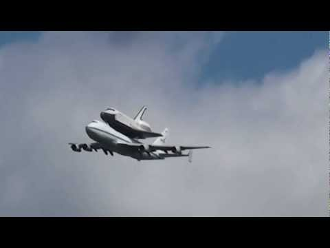 Jersey City, New Jersey - Space Shuttle Enterprise Arrives in New York City HD (2012)