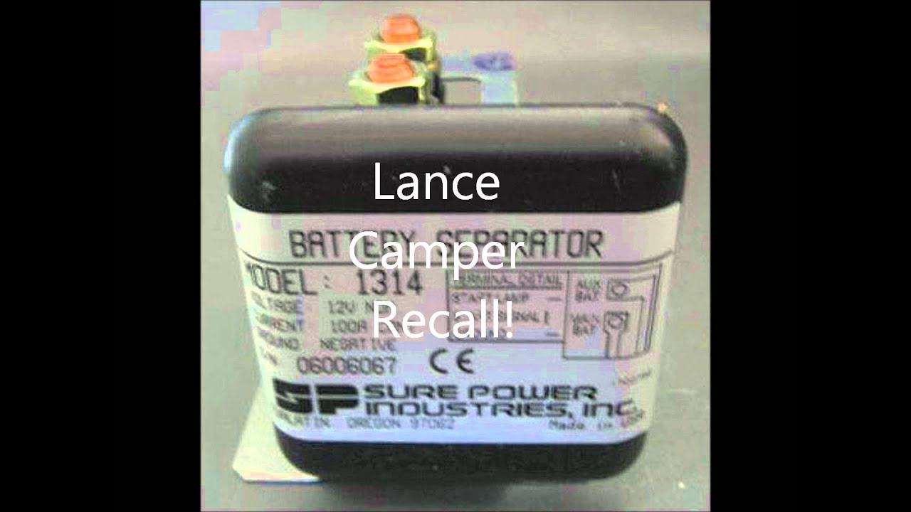 maxresdefault lance camper recall surepower 1314 battery seperator recall sure power battery separator 1314 wiring diagram at reclaimingppi.co