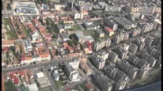 Clujul vazut din avion - aterizare la Cluj cu Lufthansa