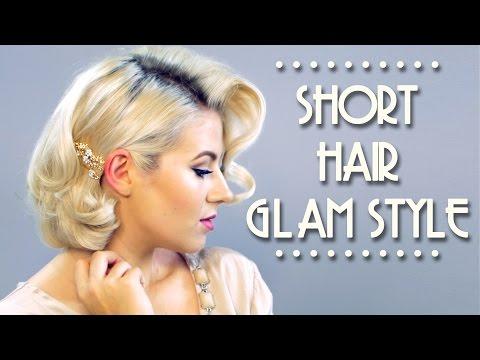 Short Hair Glam Style Tutorial   Milabu