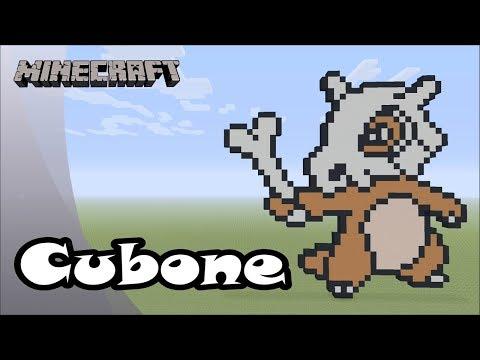 Minecraft: Pixel Art Tutorial And Showcase: Cubone (Pokemon)