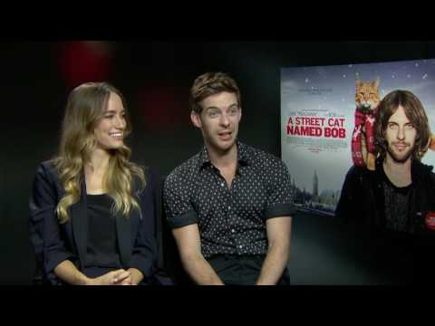 Working with a cat: Luke Treadaway & Ruta Gedmintas Exclusive Interview - A Street Cat Named Bob