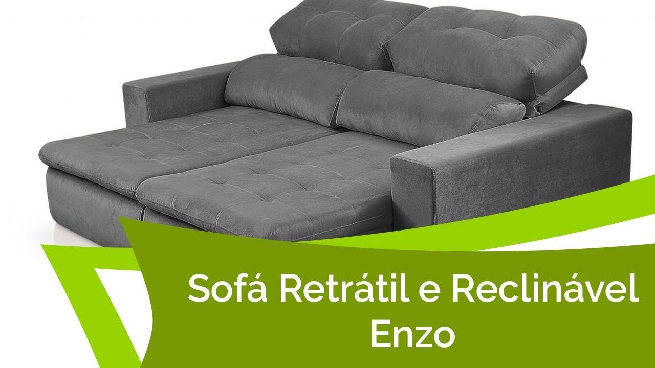 Sof retr til e reclin vel 2 e 3 lugares enzo c encosto reclin vel em 4 est gios p de sof - Donde comprar fundas de sofa ...