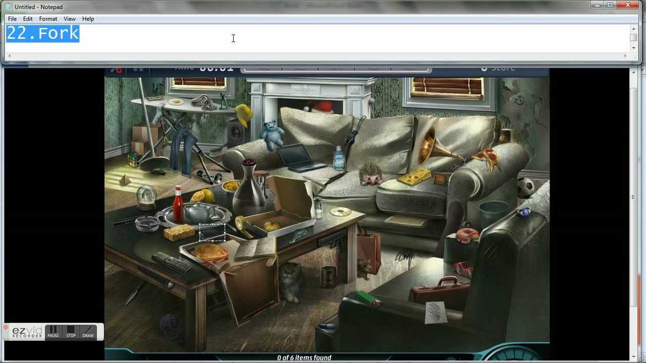 Criminal Case 5 Living Room All Items