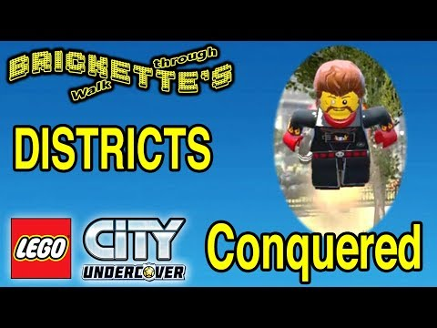 ALL 20 DISTRICTS CONQUERED And REX FURY ASTRONAUT In LEGO City Undercover SEE DESCRIPTION For Times