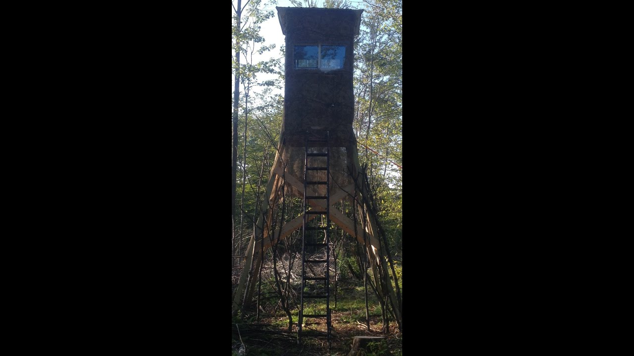 how to build a deer tower tree stand youtube