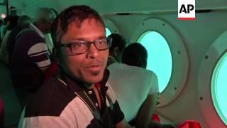 Tourists take submarine tour of Bali waters