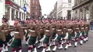 Royal Highland Fusiliers (2 Scots) Glasgow Homecoming Parade 2013
