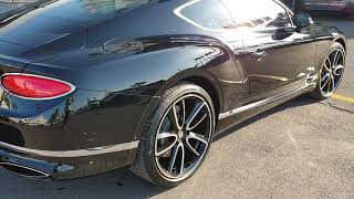 Bentley Continental GT  2019 First appearance luxury cars rolling the streets of Tangier Morocco
