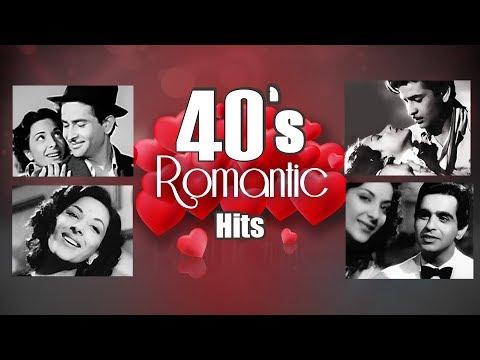 40s Romantic Songs HD  Bollywood Popular Love Songs JUKEBOX  Evergreen Songs