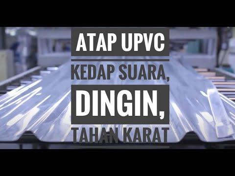 Atap uPVC kedap suara, dingin & tahan karat; EXCELtech