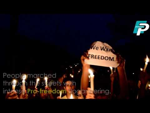Candle light protest in sopore Part-1