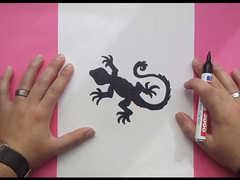 Como dibujar un lagarto paso a paso | How to draw a lizard - YouTube