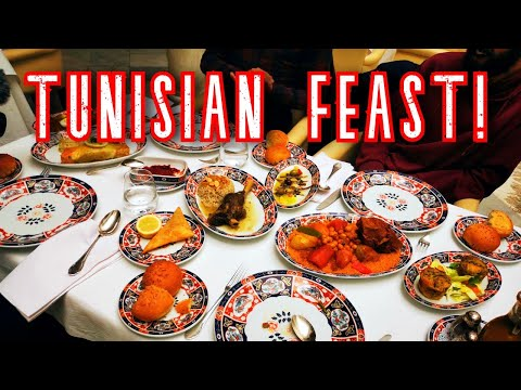 Trying TUNISIAN food! Tunis local food and STREET FOOD tour!