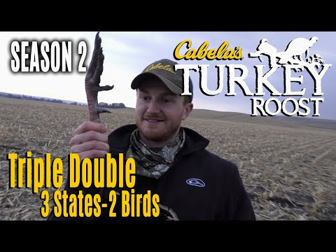 hunting-big-flocks,-first-shot-in-a-month-goes-wrong-|-cabela's-turkey-roost