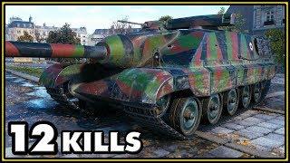 AMX 50 Foch (155) - 12 Kills - 1 vs 6 - World of Tanks Gameplay